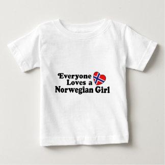 Norwegisches Mädchen Baby T-shirt