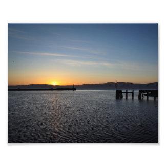 Norwegisches Sommersonnenuntergangplakat Photodrucke