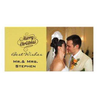 Nos premiers cartes photos de mariage de Noël, Photocartes Personnalisées