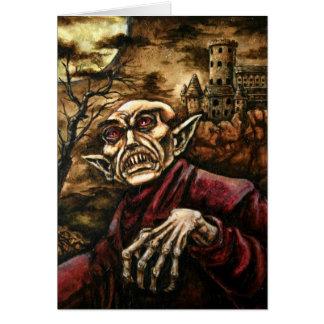 Nosferatu Halloween Karte