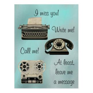 Nostalgiker schreiben mich anrufen mich postkarte