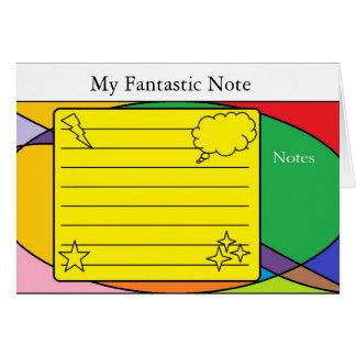 Note de formes carte de correspondance