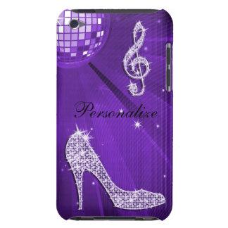 Note lilas pourpre scintillante de musique et coques iPod touch