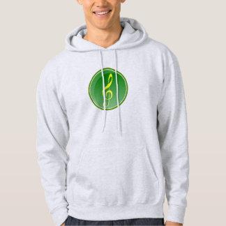 Note musicale sweatshirts avec capuche