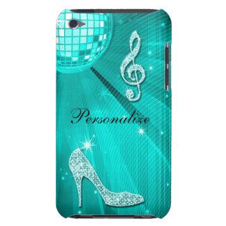 Note turquoise scintillante de musique et talon st coque Case-Mate iPod touch