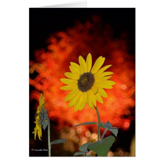 Notecard mit Sonnenblume Grußkarte