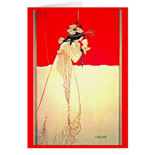 Notecard-Vintage Illustration-Aubrey Beardsley 8 Mitteilungskarte