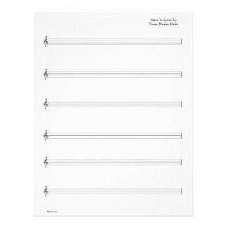Noten - Gitarre vernehmbar (schreiben Sie Ihre eig 21,6 X 27,9 Cm Flyer
