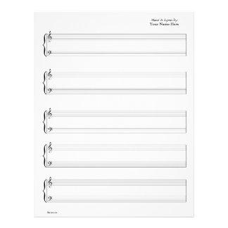 Noten - Klavier u. vernehmbare (schreiben Sie Ihre Flyers