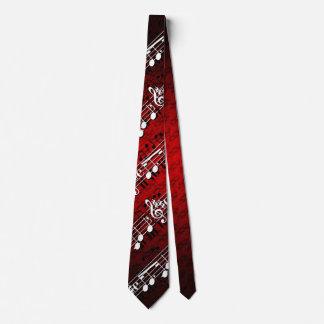Notes de musique cravate