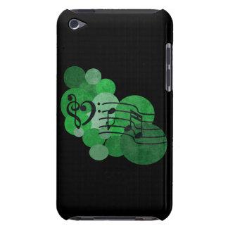 Notes de musique et caisse vert clair d'iPod de po Étuis Barely There iPod