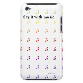 Notes musicales d'arc-en-ciel coque iPod touch