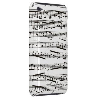Notes musicales noires et blanches étui iPod touch