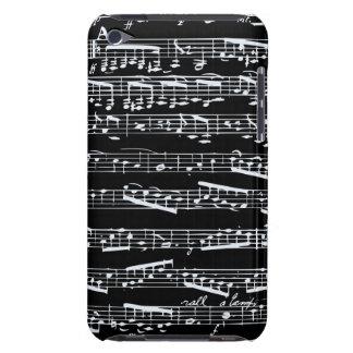 Notes noires et blanches de musique étuis barely there iPod