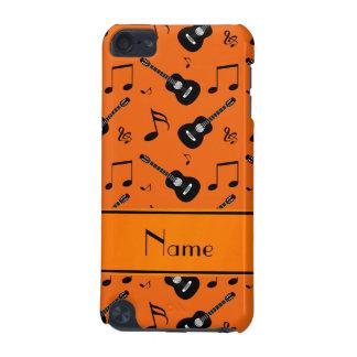 Notes noires oranges nommées faites sur commande coque iPod touch 5G