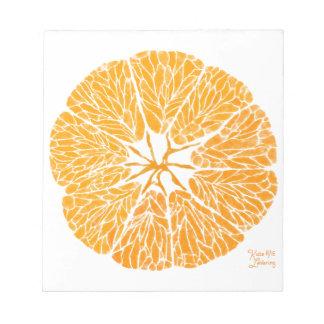 Notizblock - Orange Sie froh…