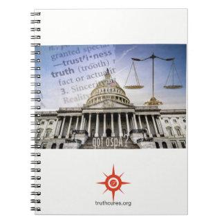 Notizbuch des Hauptstadts-Gebäude/truthcures.org Notizblock
