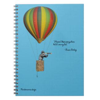 Notizbuch für reisende Leute Spiral Notizblock