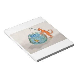 Notizbuch - Katzenfischen Notizblock