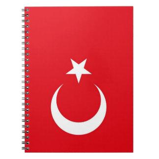 Notizbuch mit Flagge von der Türkei Spiral Notizblock
