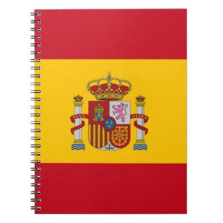 Notizbuch mit Flagge von Spanien
