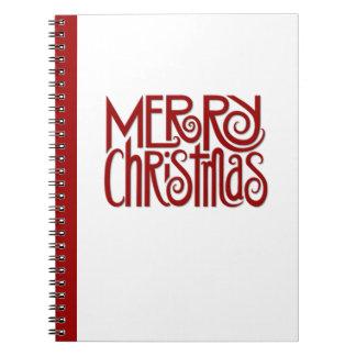 Notizbuch Rot der frohen Weihnachten Spiral Notizblock