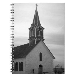Notizbuch St. Olaf Kirke (die alte Felsen-Kirche) Spiral Notizblock