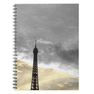 Notizbuch Umdrehung Eiffel, aber und Geld Spiral Notizblock