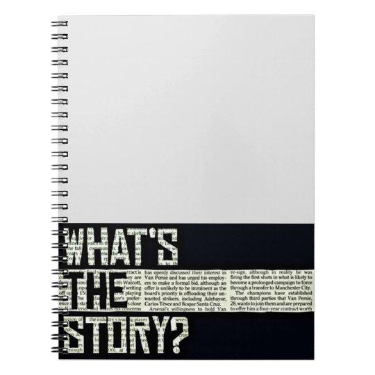 Notizbuch, was die Geschichte ist Spiral Notizblock