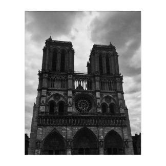 Notre Dame Acryl Wandkunst