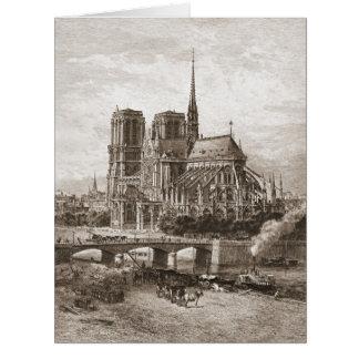 Notre Dame de Paris 1867 Karte