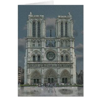 Notre Dame-Fassadengrußkarte Karte
