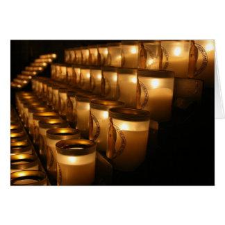 Notre Dame-Gebets-Kerzen Karte