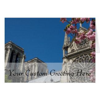 Notre Dame in Paris, Frankreich mit Karte