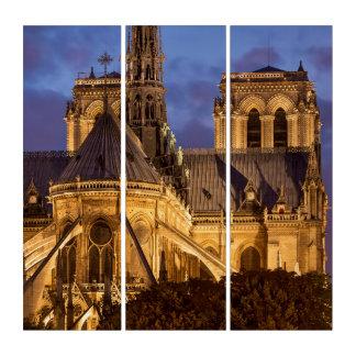 Notre Dame-Kathedrale nachts Triptychon