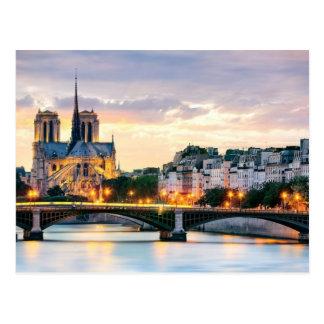 Notre-Dame-Kathedralen-Postkarte Postkarte
