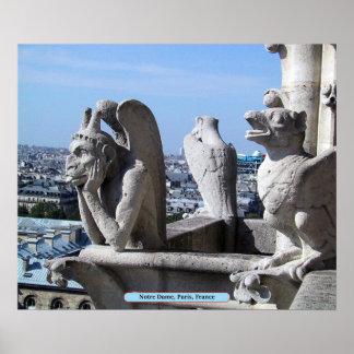 Notre Dame, Paris, Frankreich Poster