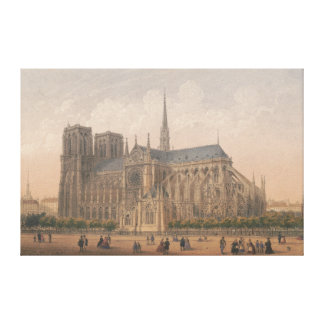 Notre Dame, Paris-Lithographie durch Charles Leinwanddruck