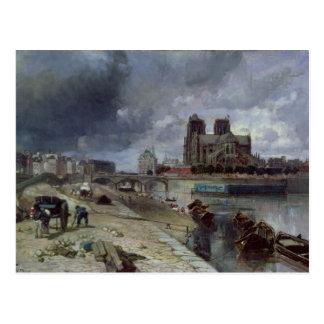 Notre-Dame von Quai de la Tournelle, 1852 Postkarte
