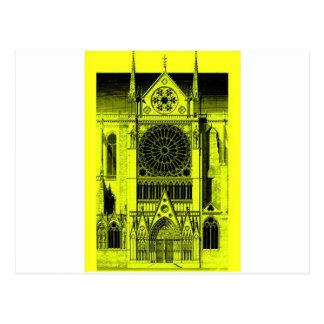 Notre- Damegelb Postkarte