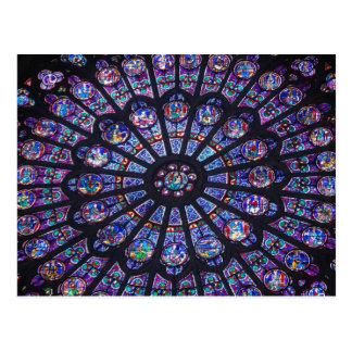 Notre- DameRosen-Fenster Postkarte