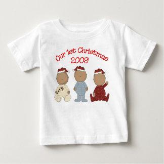 Notre ęr Noël 2009 (triplets d'Afro-américain) Tee-shirt