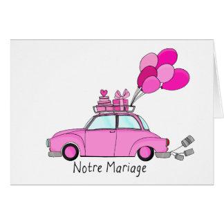 Notre Mariage - französische Hochzeitseinladung Karte