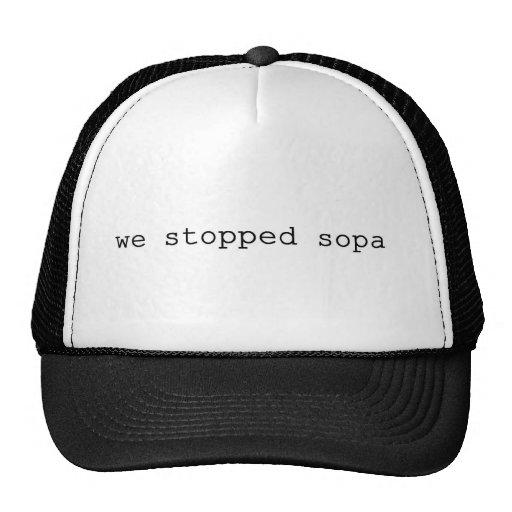 nous avons arrêté le sopa casquettes de camionneur