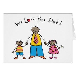Nous vous aimons fête des pères heureuse de carte de vœux