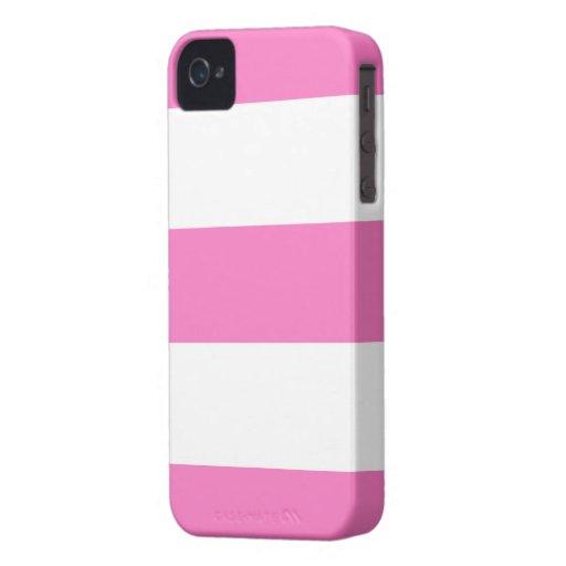 Nouveau cadeau rose et blanc mignon de caisse de B Coques Case-Mate iPhone 4