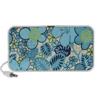 Nouveau haut-parleur floral bleu super de Portable