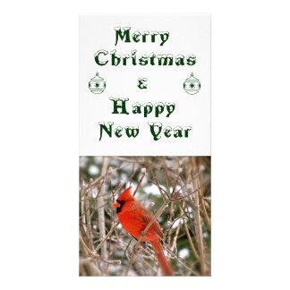 Nouvelle année de Noël Cartes De Vœux Avec Photo