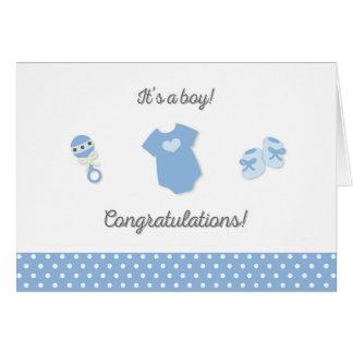 Nouvelle carte de félicitations de bébé