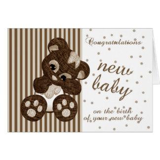 Nouvelles félicitations de bébé - nouvelle carte